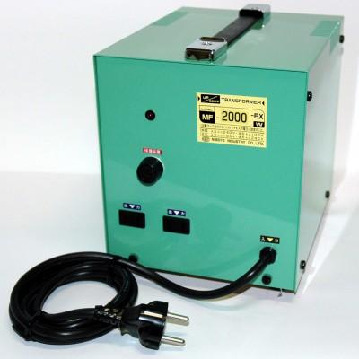 MF-EXシリーズ 変圧トランス 入出力電圧AC240⇔AC100V 定格容量:2000W