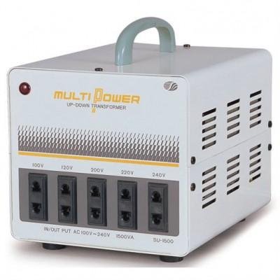 海外用トランス 平ピンA2/丸ピンC2 AC100V〜240V 1.5KVA
