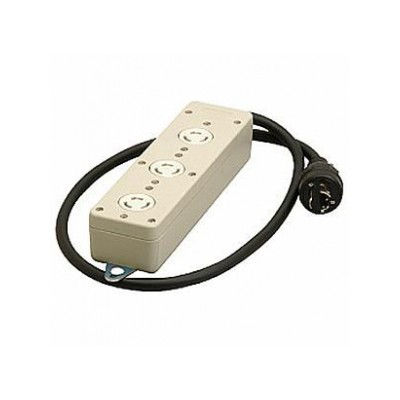 3P 引掛タップ 3個口 VCTコード1m 20A 250V