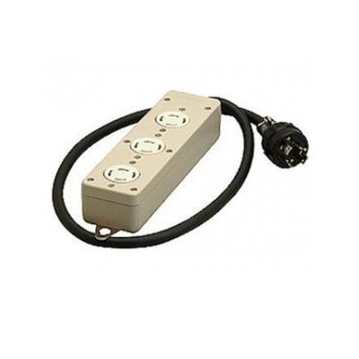 接地3P 引掛タップ 3個口 VCTコード1m 20A 250V