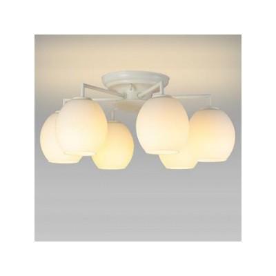 LEDシャンデリア 天井直付 〜6畳 小形電球40形×6灯相当 電球色