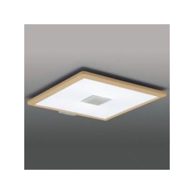 LEDシーリングライト(スクエア) E-CORE ライトブラウン 6〜8畳 白色〜電球色 4974550427715