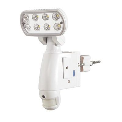 LEDセンサーライト 防雨形 8W 警告音・カメラ付 SDカード対応