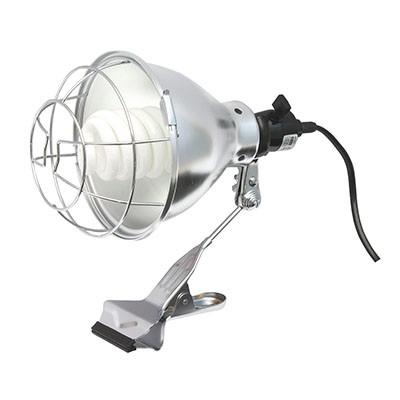 クリップランプ 電球形蛍光灯 反射カバー・連結コンセント付 コード長:5m