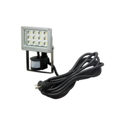 LED投光器 センサタイプ 屋外軒下用 12W