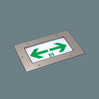 LED誘導灯 コンパクトスクエア 床埋込型防雨形 片面型 C級(10形) 長時間定格型(60分間)