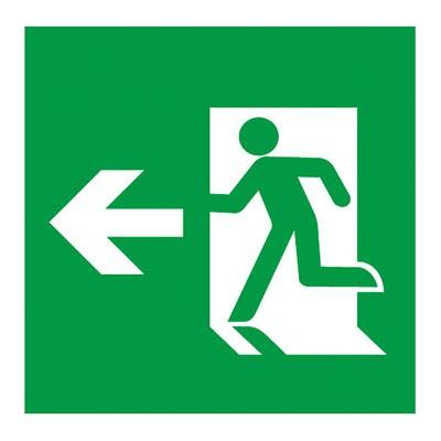 避難口誘導灯用適合表示板 矢印付左 A級 片面用