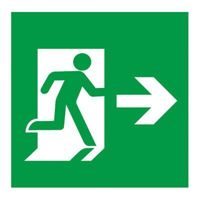 避難口誘導灯用適合表示板 矢印付右 A級 片面用