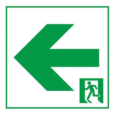 通路誘導灯用適合表示板 矢印左 A級 片面用