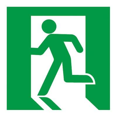 避難口誘導灯用適合表示板 左 C級(10形) 片面用
