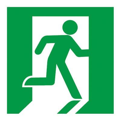 避難口誘導灯用適合表示板 右 C級(10形) 片面用