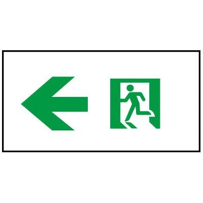 通路誘導灯用適合表示板 矢印左 C級(10形) 片面用