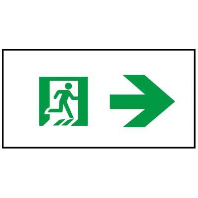 通路誘導灯用適合表示板 矢印右 C級(10形) 片面用