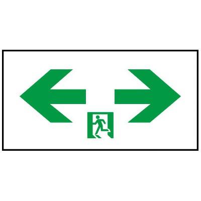 通路誘導灯用適合表示板 両矢印 C級(10形) 片面用