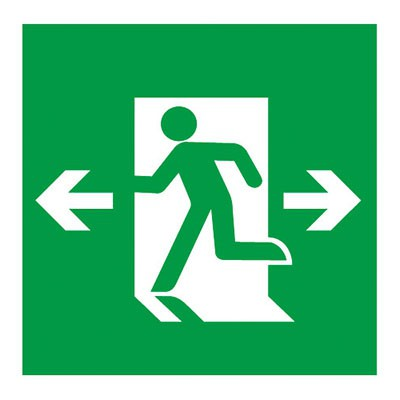 避難口誘導灯用適合表示板 矢印付両 B級・BH形(20A形)/B級・BL形(20B形) 片面用