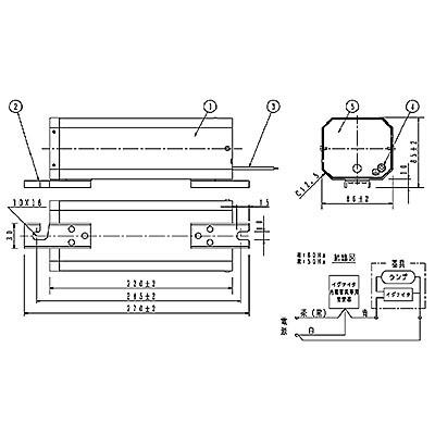 スカイビーム専用安定器 60Hz用 70形 GB型(イグナイタ内蔵器具専用)一般型 高効率 200V