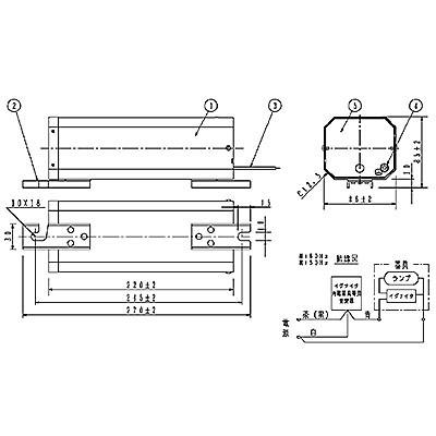 スカイビーム専用安定器 50Hz用 70形 GB型(イグナイタ内蔵器具専用)一般型 高効率 200V