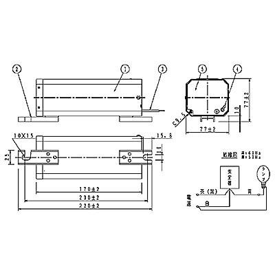 ハイゴールド(効率本位形) 水銀灯安定器点灯形(始動器内蔵形) 60Hz用 180形 一般型 高効率 200V