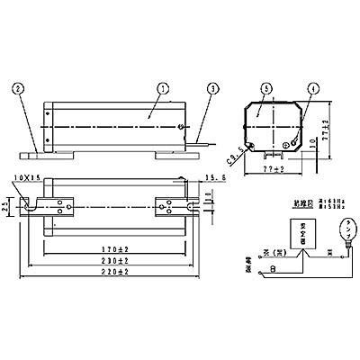 ハイゴールド(効率本位形) 水銀灯安定器点灯形(始動器内蔵形) 50Hz用 180形 一般型 高効率 200V
