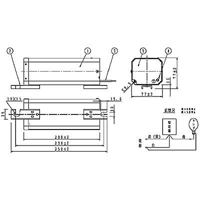 ハイゴールド(効率本位形) 水銀灯安定器点灯形(始動器内蔵形) 60Hz用 180形 低始動電流型 高効率 200V