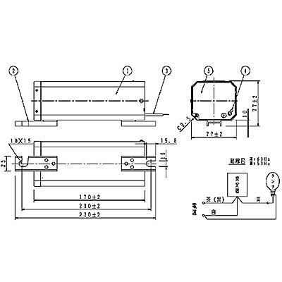 ハイゴールド(効率本位形) 水銀灯安定器点灯形(始動器内蔵形) 50Hz用 220形 一般型 高効率 200V
