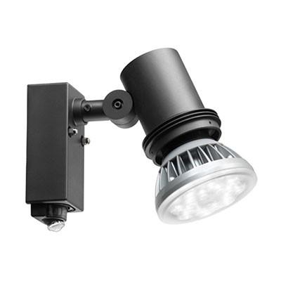 屋外スポットライト レディオック ブラック センサ付 防雨形 黒色 E26 100V用(ランプ別売)
