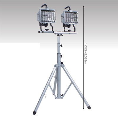 ハロゲンライト 500W ハロスター500 2灯式三脚セット コード長:5m