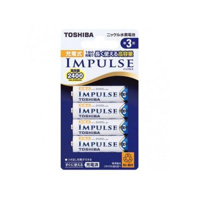 ニッケル水素電池 IMPULSE 充電式 単3形 1.2V 2400mAh 4本パック 4904530081798