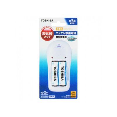 充電器 + ニッケル水素充電池セット ライトタイプ 単3形 1.2V 950mAh 2本パック 4904530081965