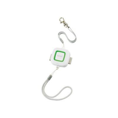 防犯ブザー 吊り下げストラップ・ランドセル取付ベルト付 音量:約95dB