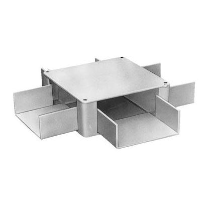プラスチックダクト用 分岐ボックス 1方出 1020型 グレー 接着タイプ