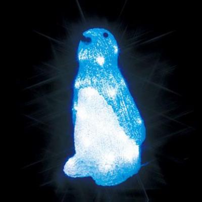LEDクリスタルモチーフ 屋外仕様 AC100V 3.5W 0.02A ペンギン(中)