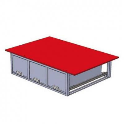 バンキャビネット 3列引き出しタイプ サイズ:幅1150×奥行950×高さ350mm