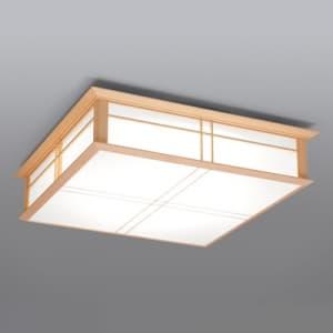LEDシーリングライト 〜12畳 高級和風木枠タイプ 電球色〜昼光色 連続調色・連続調光機能付き 4902530062434