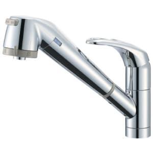 シングル浄水器付ワンホールスプレー混合栓 節水水栓 キッチン用 浄水カートリッジ内蔵タイプ ホース引出し機能付 modello