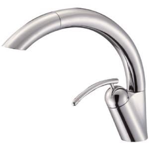 シングルワンホールスプレー混合栓 節水水栓 キッチン用 ホース引出し式 シャワー吐水のみ 寒冷地用 EDDIES