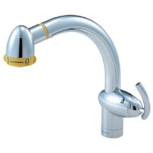 シングルワンホールスプレー混合栓 節水水栓 キッチン用 ホース引出し式 寒冷地用 THE PINEAPPLE ROOM