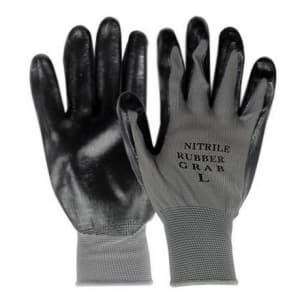 ニトリルグラブ(背ヌキ加工) 薄手タイプ 5双組 サイズ:L 黒