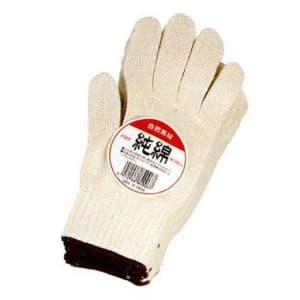 純綿軍手(5本編み) 厚手タイプ 12双組 サイズ:フリー