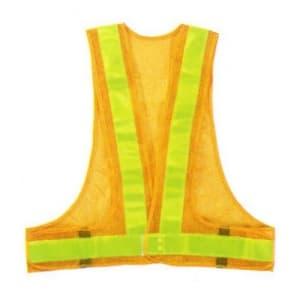 安全ベスト(5cm巾) 着丈:前62×後60cm ウエスト/110〜130cm イエロー生地×イエローテープ サイズ:フリー