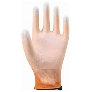 ケミソフトタッチワーク 片面コートタイプ サイズ:L オレンジ