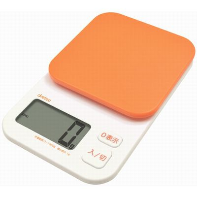 デジタルスケール「トルテ」 1kg オレンジ