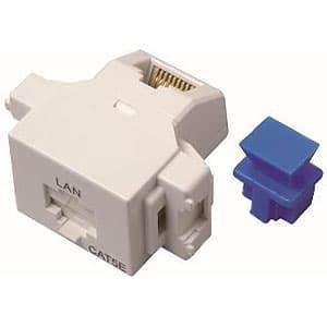 LANモジュラジャック ジャックタイプ Cat.5e対応 ホワイト色