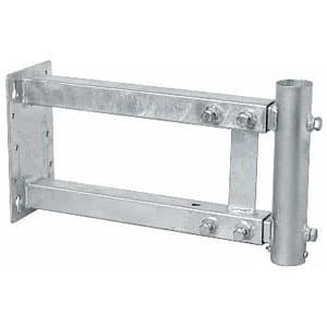 側面取付金具(軒下金具) 伸縮型 中間および底用兼用型 マスト径φ22〜32用