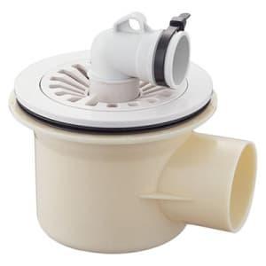 洗濯機排水トラップ VU・VPパイプ兼用 締付治具付