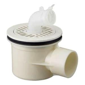 洗濯機排水トラップ VU・VPパイプ兼用 ホワイト
