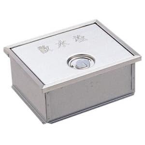 カギ付散水栓ボックス(床面用) ガーデニング ヘアライン仕上 外寸:190×235×95mm