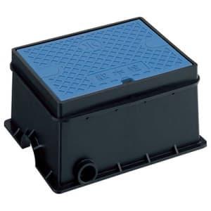 散水栓ボックスセット ガーデニング Y80V散水栓付 外寸:220×279×140mm 青