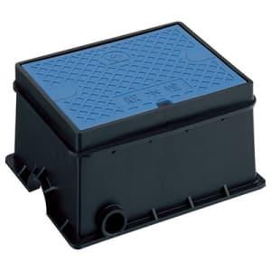 散水栓ボックスセット ガーデニング Y86V共用散水栓付 外寸:220×279×140mm 青