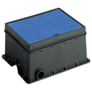 散水栓ボックス(床面用) ガーデニング 外寸:220×279×140mm 青